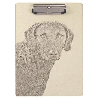 Chesapeake Bay Retriever Painting Original Dog Art Clipboard