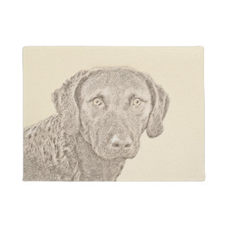 Chesapeake Bay Retriever Painting Original Dog Art Doormat