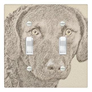 Chesapeake Bay Retriever Painting Original Dog Art Light Switch Cover