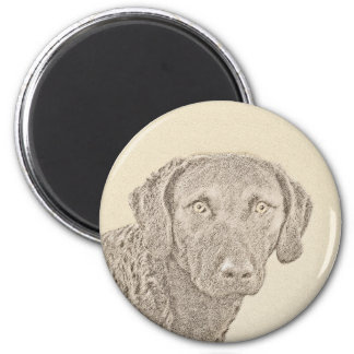 Chesapeake Bay Retriever Painting Original Dog Art Magnet