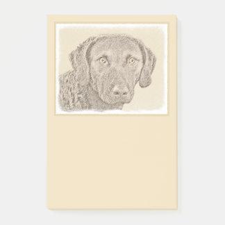 Chesapeake Bay Retriever Painting Original Dog Art Post-it Notes