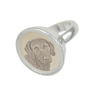 Chesapeake Bay Retriever Painting Original Dog Art Ring