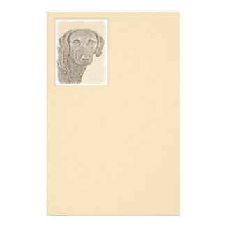 Chesapeake Bay Retriever Painting Original Dog Art Stationery