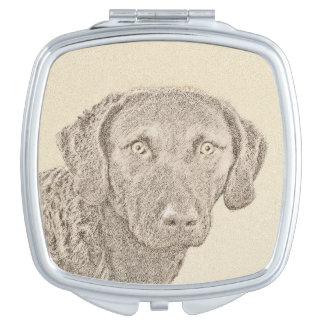 Chesapeake Bay Retriever Painting Original Dog Art Vanity Mirror