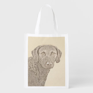 Chesapeake Bay Retriever Reusable Grocery Bag