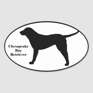 Chesapeake Bay Retriever SIlhouette Oval Sticker