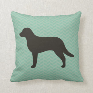 Chesapeake Bay Retriever Silhouette Throw Pillow