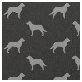 Chesapeake Bay Retriever Silhouettes Pattern Fabric