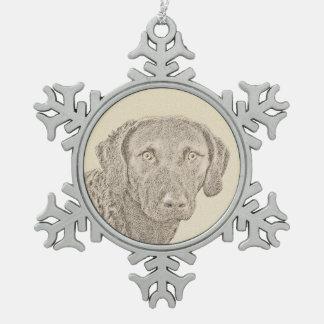 Chesapeake Bay Retriever Snowflake Pewter Christmas Ornament