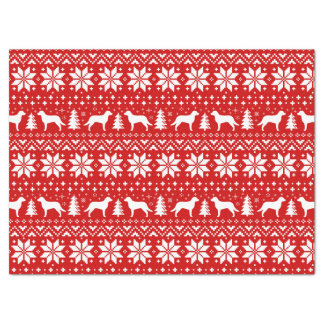 Chesapeake Bay Retrievers Christmas Pattern Red Tissue Paper