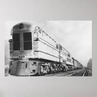 "Chesapeake & Ohio Railroad ""500"" Locomotive Poster"