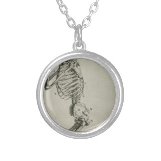 cheseldenprayingskeleton silver plated necklace