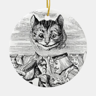 Cheshire Cat Above the Queen Ceramic Ornament