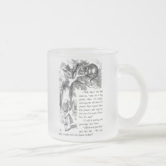 "Cheshire cat, ""Alice in Wonderland"" Frosted Glass Coffee Mug"