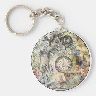 Cheshire Cat Alice in Wonderland Keychain