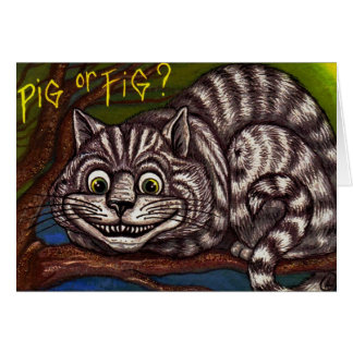 CHESHIRE CAT Alice in Wonderland Note Card