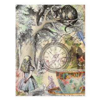Cheshire Cat Alice in Wonderland Postcard