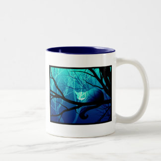 Cheshire Cat Among Trees Two-Tone Coffee Mug