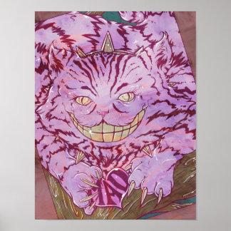 Cheshire Cat by Hezaa Poster