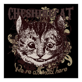 Cheshire Cat Carnivale Style Poster