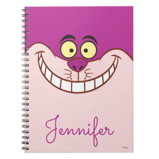 Cheshire Cat Face - Personalized Spiral Notebook
