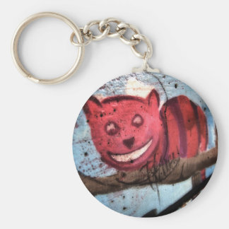 Cheshire Cat Grin Basic Round Button Keychain