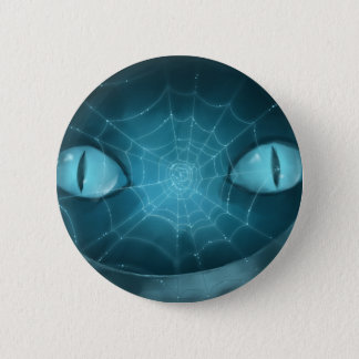 Cheshire Cat Grinning Button