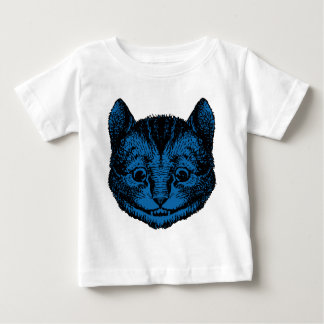 Cheshire Cat Inked Blue Fill Baby T-Shirt