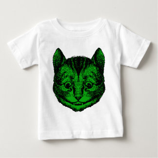 Cheshire Cat Inked Green Fill Baby T-Shirt