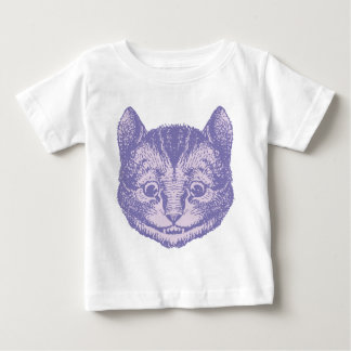 Cheshire Cat Inked Lavender Baby T-Shirt