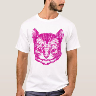 Cheshire Cat Inked Pink T-Shirt