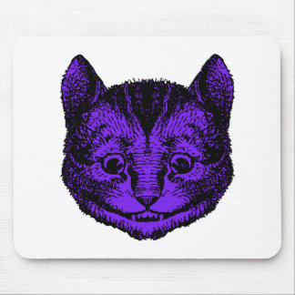 Cheshire Cat Inked Purple Fill Mouse Pad