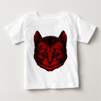 Cheshire Cat Inked Red Fill Baby T-Shirt