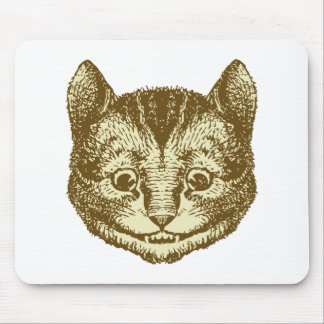 Cheshire Cat Inked Sepia Mouse Pad