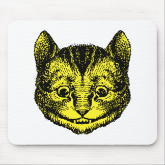 Cheshire Cat Inked Yellow Fill Mouse Pad