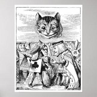 Cheshire Cat over Wonderland Poster