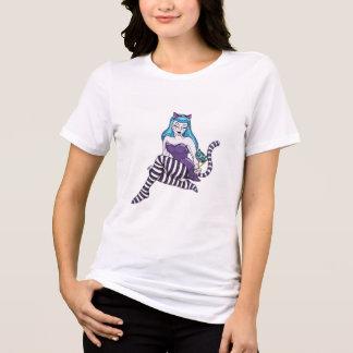 Cheshire Cat pinup girl shirt Alice in wonderland