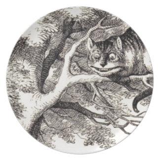 Cheshire cat plate