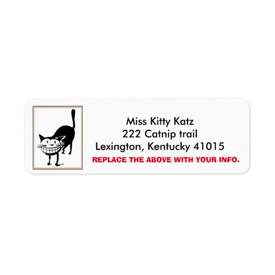 Cheshire Cat Return Address labels, Personalize Return Address Label