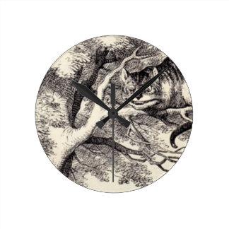 Cheshire Cat Round Clock