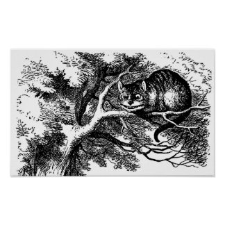 Cheshire Cat Smiling Alice in Wonderland Print