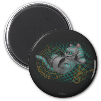 Cheshire Cat   Time's a Wastin' 2 Inch Round Magnet