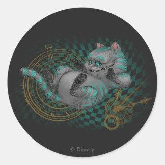 Cheshire Cat | Time's a Wastin' Round Sticker