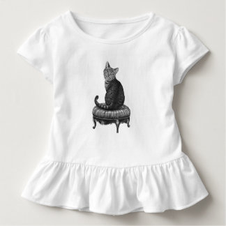 Cheshire Cat Toddler Girls Ruffle Shirt