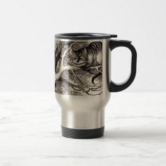 Cheshire cat travel mug
