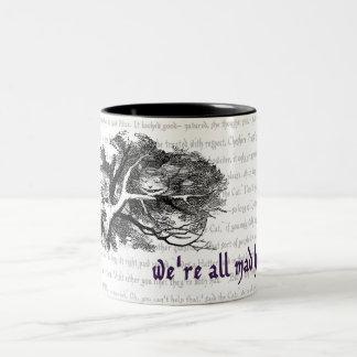 Cheshire Cat Two-Tone Coffee Mug