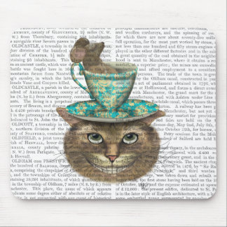 Cheshire Cat with Cup on Head Mouse Pad