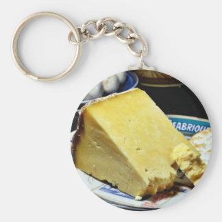 Cheshire Cheese Basic Round Button Keychain