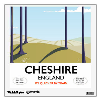 Cheshire, England travel poster Wall Sticker