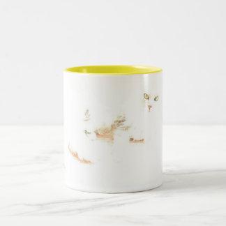 Cheshire Kitten Two-Tone Coffee Mug